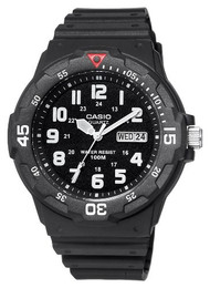 Casio Men's Dive Watch MRW200H-1BVCF Black Resin