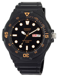 Casio Men's Dive Watch MRW200H-1EVCF Black Resin