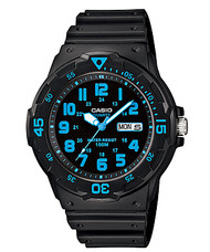 Casio Men's Dive Watch MRW200H-2BV Black Resin