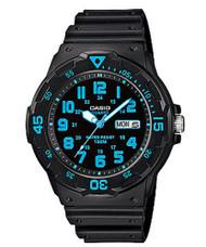 Casio Men's Dive Watch MRW200H-5BVCF Black Resin Yellow Dial 100M