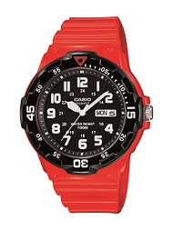 Casio Men's Dive Watch MRW200HC-4BVCF Red Resin