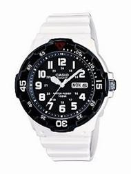Casio Men's  White Resin Dive Watch MRW200HC-7BVCF Black White