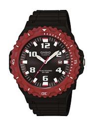 Casio Men's Tough Solar Watch MRWS300H-4BVCF Black Red