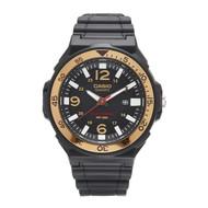 Casio Men's Solar-Powered Analog Sport Watch MRWS310H-9BVCF Black Gold
