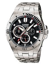 Casio Men's Stainless Steel Dive Watch MTD1060D-1AVDF Black Dial 100M
