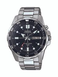 Casio Men's Super Illuminator Diver Analog Display Quartz Silver Watch