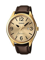 Casio Men's 3 Hand Easy Read Analog Watch MTP1342L-9B Brown