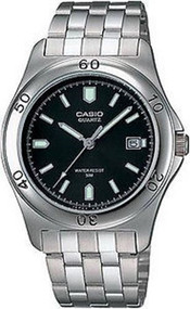 Casio Men's Stainless Steel Watch MTP1213A-1AVCR Black Dial