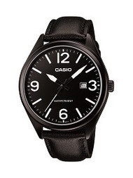 Casio Men's 3 Hand Easy Read Analog Watch MTP1342L-1B1 Black