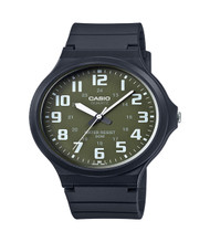 Casio Men's 'Easy To Read' Quartz Casual Watch MW240-3BV Black Green