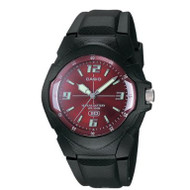 Casio Men's Classic Analog Watch MW600F-4AV Black Red Dial