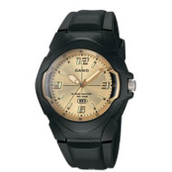 Casio Men's Classic Analog Watch MW600F-9AV Black Gold Dial