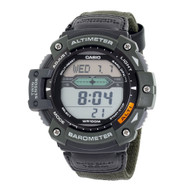 Casio Men's Twin Sensor Multifunction Sport Watch SGW300HB-3AVCF Green Nylon