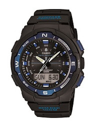 Casio Men's Multi-Function Watch SGW500H-2BV Black Blue