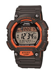 Casio Men's Tough Solar Runner Watch STLS100H-4AVCF Black Orange