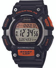 Casio Men's Tough Solar Runner Digital Watch STLS110H-1ACF Black and Orange