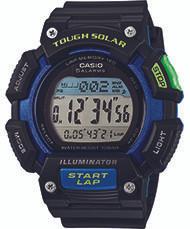 Casio Men's Tough Solar Runner Digital Watch STLS110H-1BCF Black and Blue