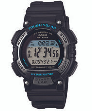 Casio Women's Solar Runner Digital Quartz Watch STLS300H-1ACF Black Grey