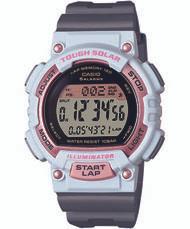 Casio Women's Solar Runner Digital Quartz Watch STLS300H-4ACF Grey White