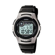 Casio Men's Basic Casual Sport Watch W213-1AVCF Black Silver