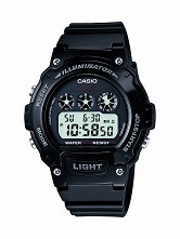 Casio Kids  Digital Watch W214HC-1AVCF Black