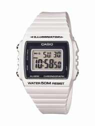 Casio Unisex Classic Digital Stop Watch W215H-7A White