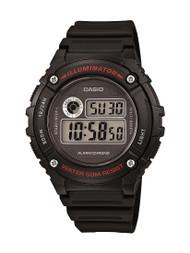 Casio Unisex Illuminator  Digital Watch W216H-1AV Black