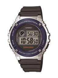 Casio Unisex Illuminator Digital Watch W216H-2AV Black Grey