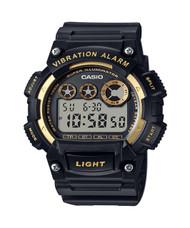 Casio Men's Super Illuminator Watch W735H-1A2V Black Gold