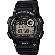 Casio Men's Super Illuminator Black Watch W735H-2AVCF Black