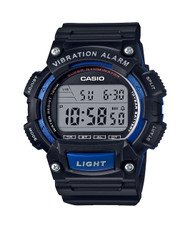 Casio W-736h-2a Men Black Resin Digital Super Illuminator Watch