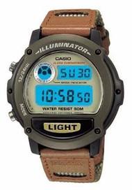 Casio Men's Illuminator Sport Watch W89HB-5AV Light Brown Dial Brown Band