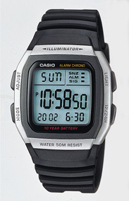Casio Men's Classic Sport Watch W96H-1AV Black Gray