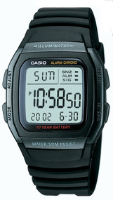 Casio Men's Classic Sport Watch W96H-1BV Black