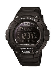 Casio Men's Classic Tough Solar Digital Watch WS220-1BVCF Black