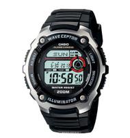 Casio Men's Waveceptor Atomic Sports Watch WV200A-1AV Multi-Task Gear Black