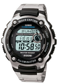 Casio Men's Multi-Task Gear Waveceptor Sports Watch WV200DA-1A  Silver Grey