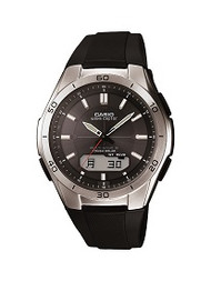 Casio Men's Wave Ceptor Ana-Digi Stainless Steel Bracelet Watch WVAM640-1A