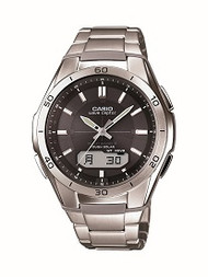 Casio Men's Wave Ceptor Stainless Steel Bracelet Watch WVAM640D-1A