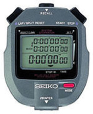 SEIKO S143 Stopwatch - 300 Lap Memory with Printer Port
