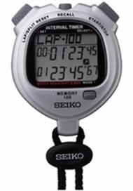 SEIKO S057 GRAY Stopwatch - 100 Lap Memory Dual Timers