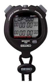 SEIKO S056 BLACK Stopwatch - 100 Lap Memory