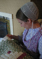 Amish Girl Quilting