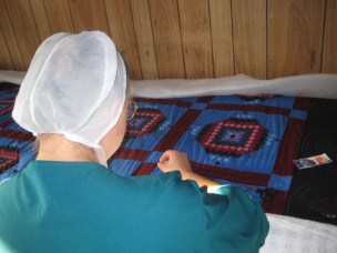 Amish Quilter Woman