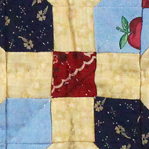 Close up of Amish Quilt