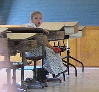 Amish Quilts - Amish girl at school