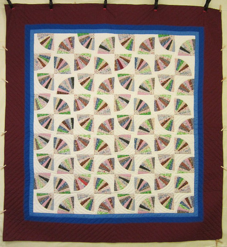 Fan Patchwork Amish Quilt 101x110