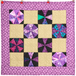 Amish Pinwheel Patchwork Wall Hanging 41x41