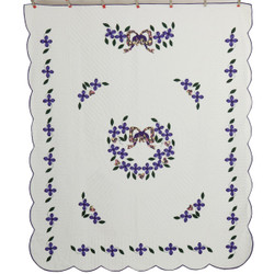 Dogwood Garden Applique Amish Quilt 91x108