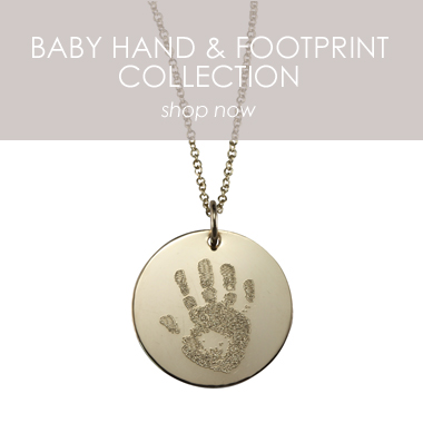 Custom Engraved Handprint Necklace